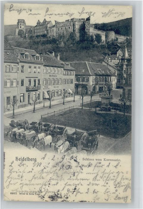 Heidelberg Schloss Kornmarkt x