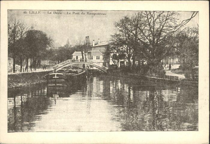Lille Deule Pont Ramponneau *