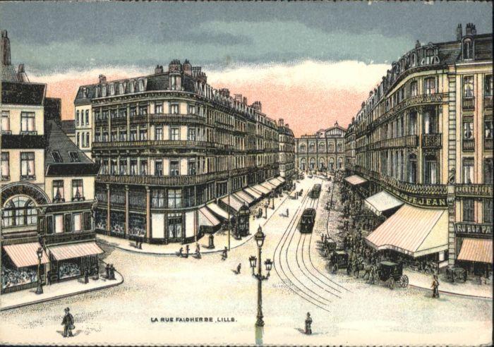 Lille Rue Faidherbe Strassenbahn  *