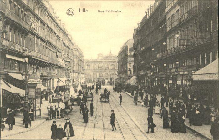 Lille Rue Faidherbe Strassenbahn Kutsche *