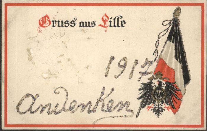 Lille Wappen Fahne *