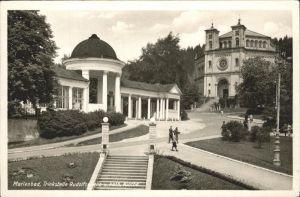 Marienbad Tschechien Trinkstelle Rudolfsquelle Kirche Kat. Marianske Lazne