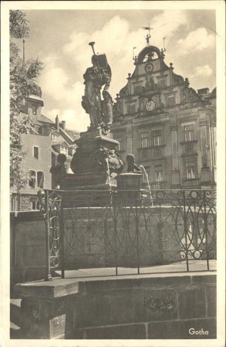 Gotha Thueringen Brunnen / Gotha /Gotha LKR