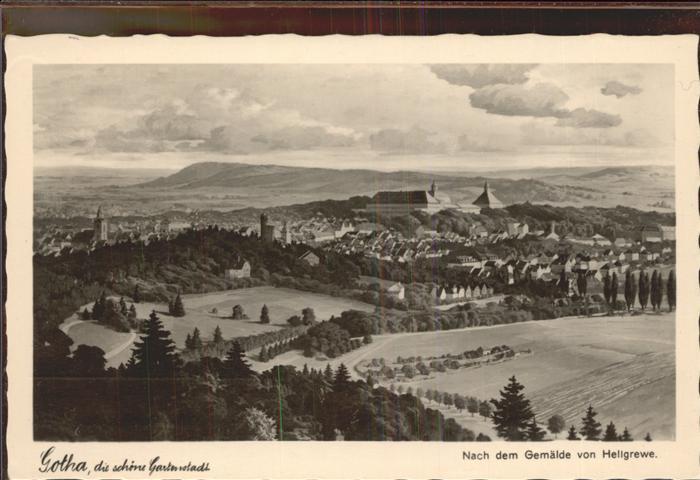 Gotha Thueringen nach Gemaelde von Hellgrewe / Gotha /Gotha LKR