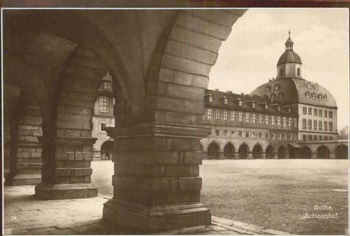 Gotha Thueringen Schlosshof / Gotha /Gotha LKR