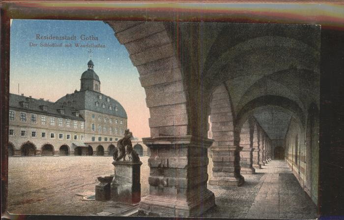 Gotha Thueringen Schlosshof Wandelhallen / Gotha /Gotha LKR