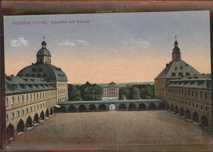 Gotha Thueringen Schlosshof Museum / Gotha /Gotha LKR