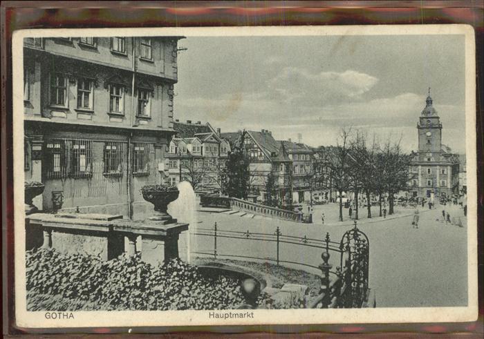Gotha Thueringen Hauptmarkt / Gotha /Gotha LKR