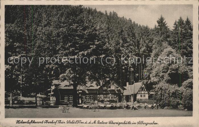 Oberhof Thueringen Untere Schweizerhuette im Silbergraben Kat. Oberhof Thueringen