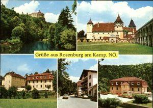 Rosenburg Mold Burg Burghof Erholungsheim  Kat. Rosenburg Mold