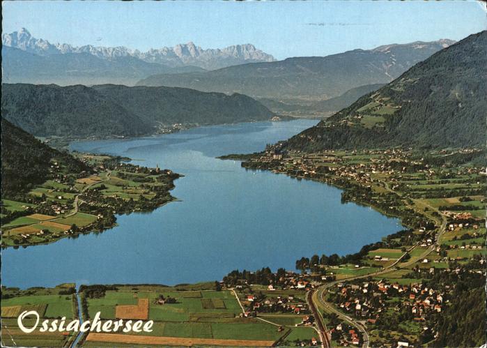Steindorf Ossiacher See Fliegeraufnahme See Stiegl Bodendorf Ossiach / Steindorf am Ossiacher See /Oberkaernten