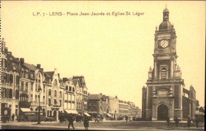 Lens Place Jean Jaures Eglise St. Leger *