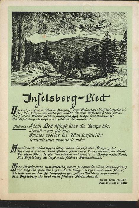 Inselsberg Schmalkalden Inselsberg Lied Kat. Schmalkalden