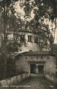 Schleiz Schloss Burgk Eingang Kat. Schleiz