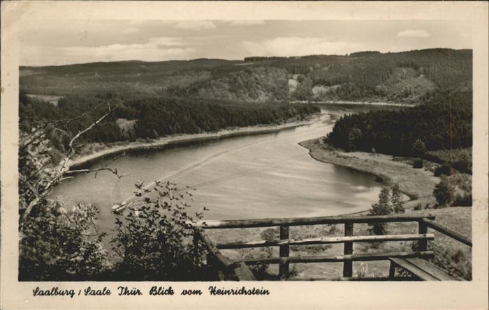 Saalburg Saale Saale Blick vom Heinrichstein Kat. Saalburg Ebersdorf