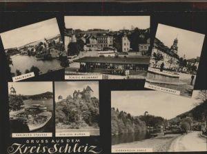 Schleiz Ziegenbrueck Saale Altmarkt Neumarkt Saalburg Stausee Schloss Burgk Kat. Schleiz