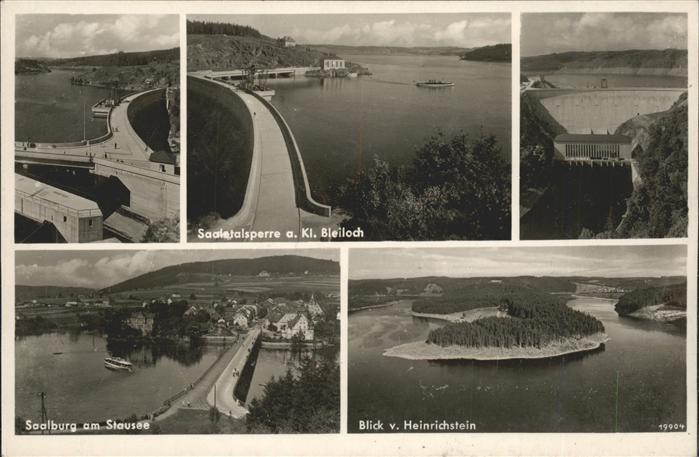 Saalburg Saale Saaletalsperre Stausee Blick vom Heinrichstein Kat. Saalburg Ebersdorf