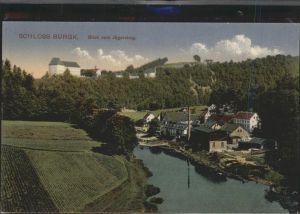 Burgk Saale Orla Kreis Schloss Blick vom Jaegersteig Kat. Burgk
