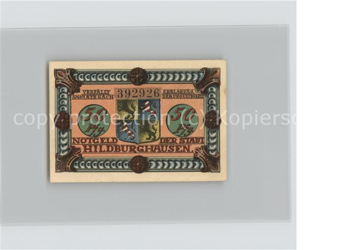 Hildburghausen 50 Pfennig Gutschein