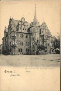 Saalfeld Saale Rathaus / Saalfeld /Saalfeld-Rudolstadt LKR