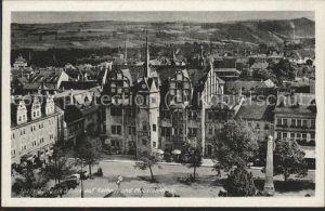 Saalfeld Saale Blick auf Rathaus u.Mauxionfabrik Kat. Saalfeld