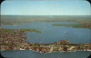 Sydney New South Wales Harbour arial view Kat. Sydney