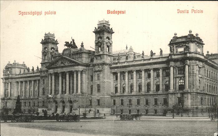 Budapest Jgazsaguegyi palota Justiz Palais Kat. Budapest