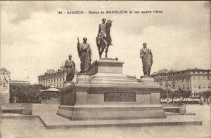 Ajaccio Statue de Napoleon et ses quatre freres Kat. Ajaccio