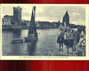 Les Sables d Olonne Le Chenal et la Tour d Arundel bateau Kat. Les Sables d Olonne