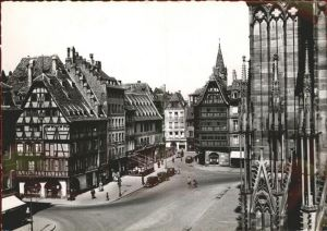 Strasbourg Alsace Place de la Cathedrale Maison Restaurant Kammerzell Kat. Strasbourg