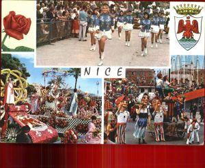 Nice Alpes Maritimes en Fete Wappen Krone Kat. Nice