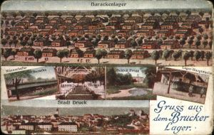 wx59913 Bruck Leitha Barackenlager Stadt Schloss Prugg   Feldpost Kategorie. Bruck an der Leitha Alte Ansichtskarten