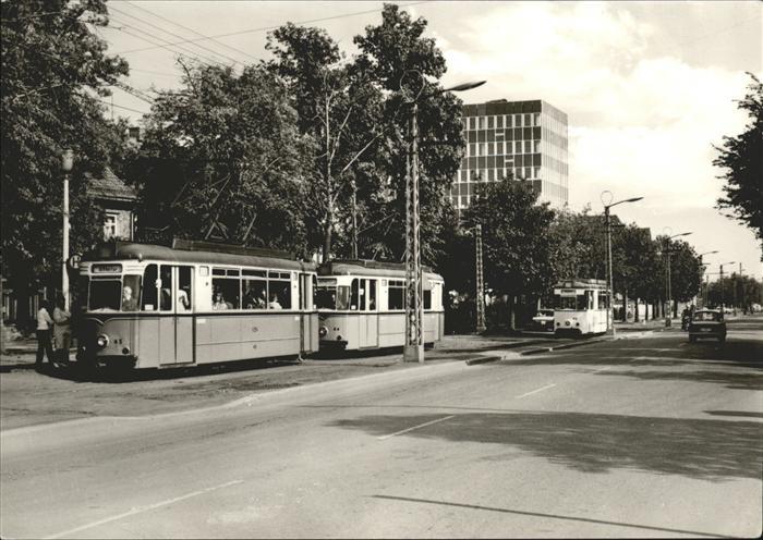 Strassenbahn Nordhausen Leninallee Haltestelle Grimmel Drei Linden Kat. Strassenbahn