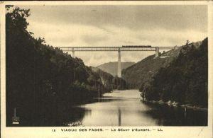kk43184 Viadukte Viaduc Geant D'Europe Viaduc des Fades Kategorie. Bruecken Alte Ansichtskarten