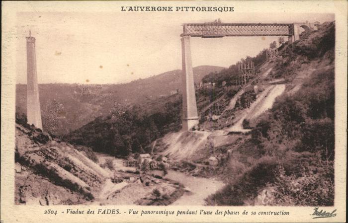 kk43246 Viadukte Viaduc Viaduc des Fades Construction Kategorie. Bruecken Alte Ansichtskarten