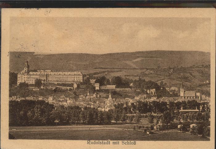 Rudolstadt mit Schloss Heidecksburg Kat. Rudolstadt