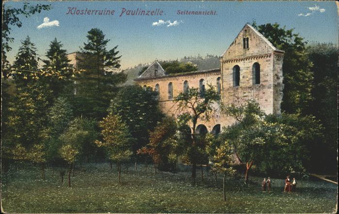 Bad Blankenburg Klosterruine Paulinzelle Kat. Bad Blankenburg