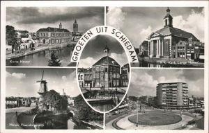 Schiedam Koemarkt Kerk Lange Haven Korte Haven Kat. Schiedam