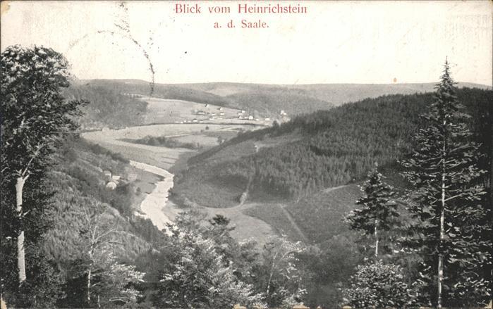 Ebersdorf Thueringen Blick vom Heinrichstein ins Saaletal Kat. Saalburg Ebersdorf
