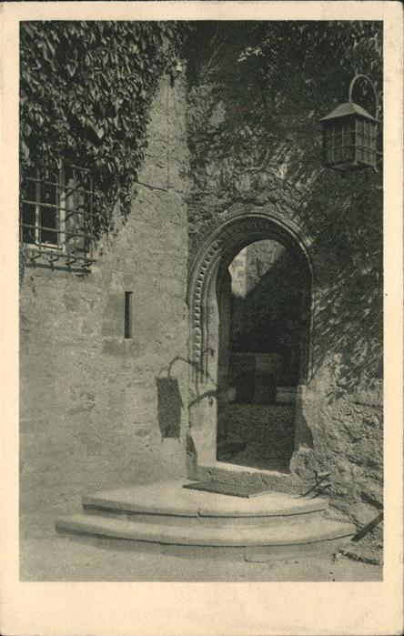 Lobeda Eingang in den Burghof (Lobedaburg) Kat. Jena