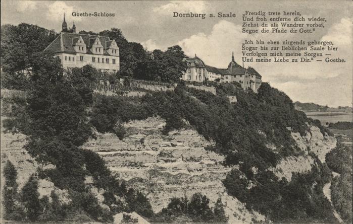 Dornburg Saale Die drei Schloesser Kat. Dornburg Saale