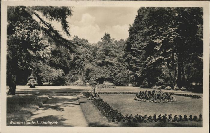 Wurzen Sachsen Partie im Stadtpark Kat. Wurzen