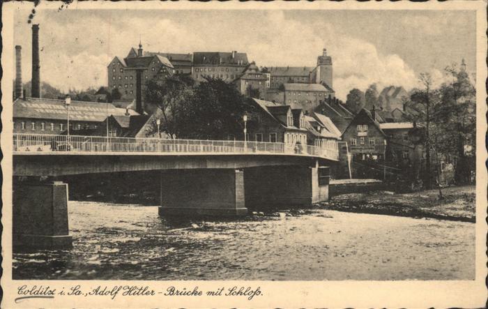 Colditz A. H. Bruecke mit Schloss Kat. Colditz