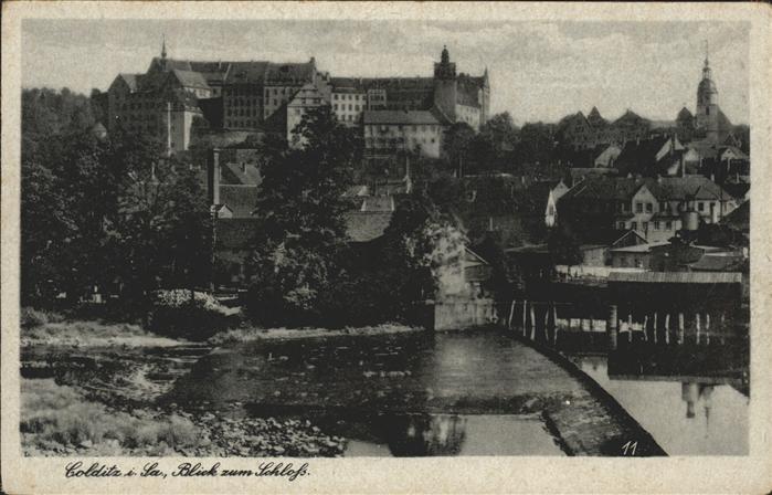 Colditz Blick zum Schloss Kat. Colditz
