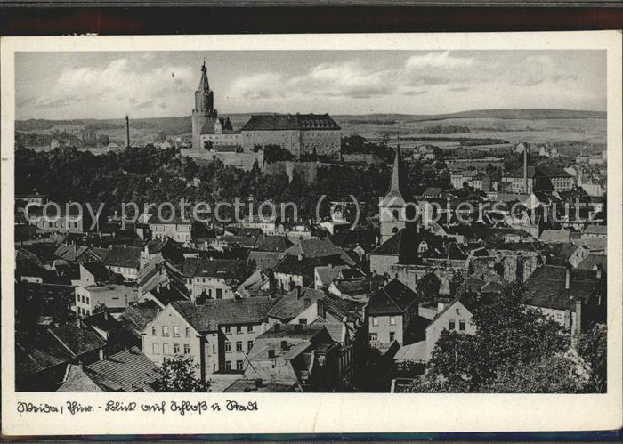 Weida Thueringen Blick auf Schloss Osterburg Kat. Weida Thueringen