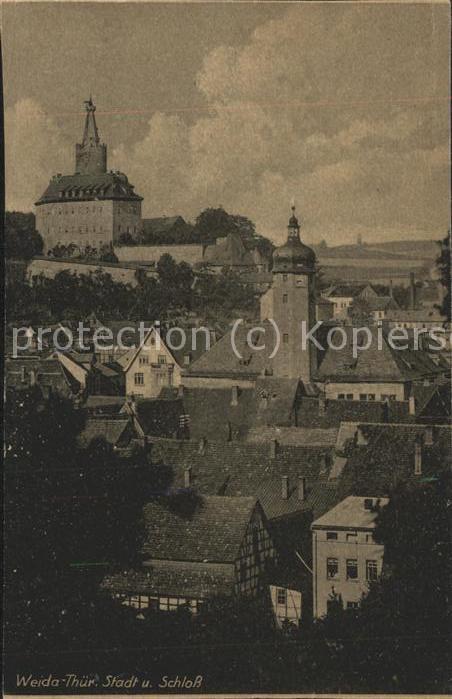 Weida Thueringen Blick auf Stadt u.Schloss Kat. Weida Thueringen