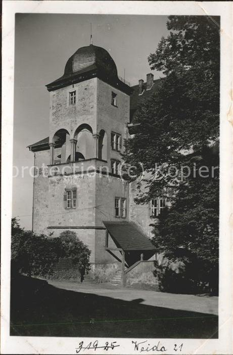 Weida Thueringen Partie am Schloss Osterburg Kat. Weida Thueringen