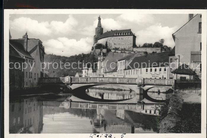 Weida Thueringen Wilhelm Ernst Bruecke u.Schloss Kat. Weida Thueringen