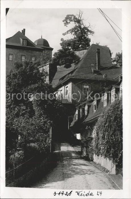 Weida Thueringen Schloss Osterburg im Burghof Kat. Weida Thueringen