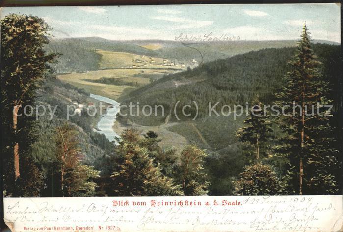 Saalburg Ebersdorf Blick vom Heinrichstein Kat. Saalburg Ebersdorf
